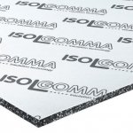 Isolgomma - Mustwall acoustic insulation board